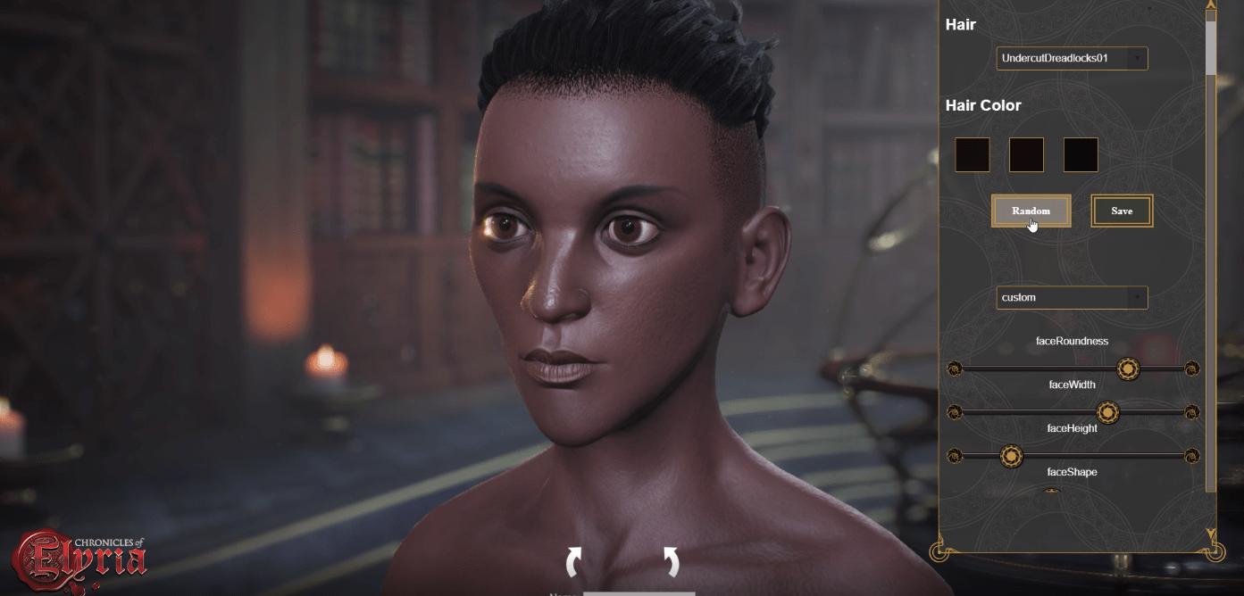 Chronicles of Elyria возможности редактора персонажа