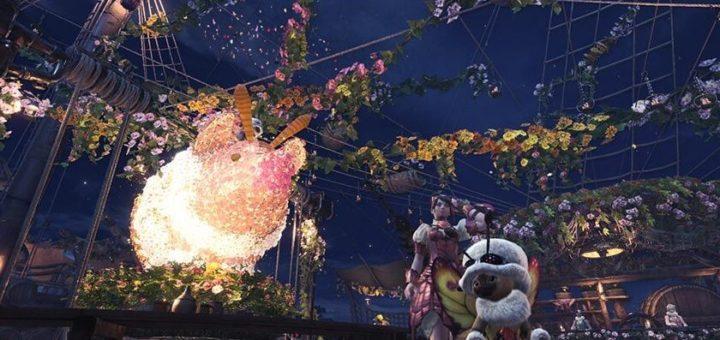 Monster Hunter World фестиваль Spring Blossom