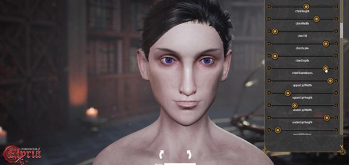 редактор персонажа Chronicles of Elyria кастомизация