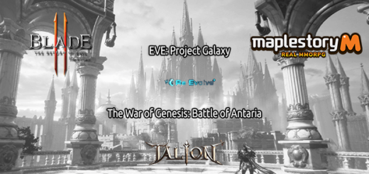 одной строкой Blade 2, Talion, ReEvolve, MapleStory M, EVE: Project Galaxy, The War of Genesis