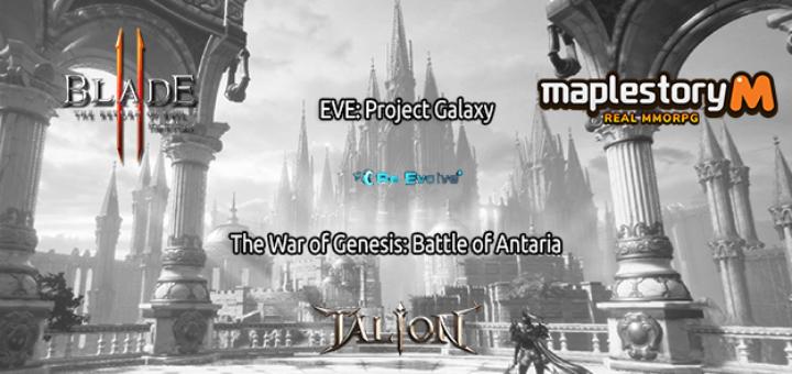 одной строкой Blade 2, Talion, ReEvolve, MapleStory M, EVE: Project Galaxy, The War of Genesis