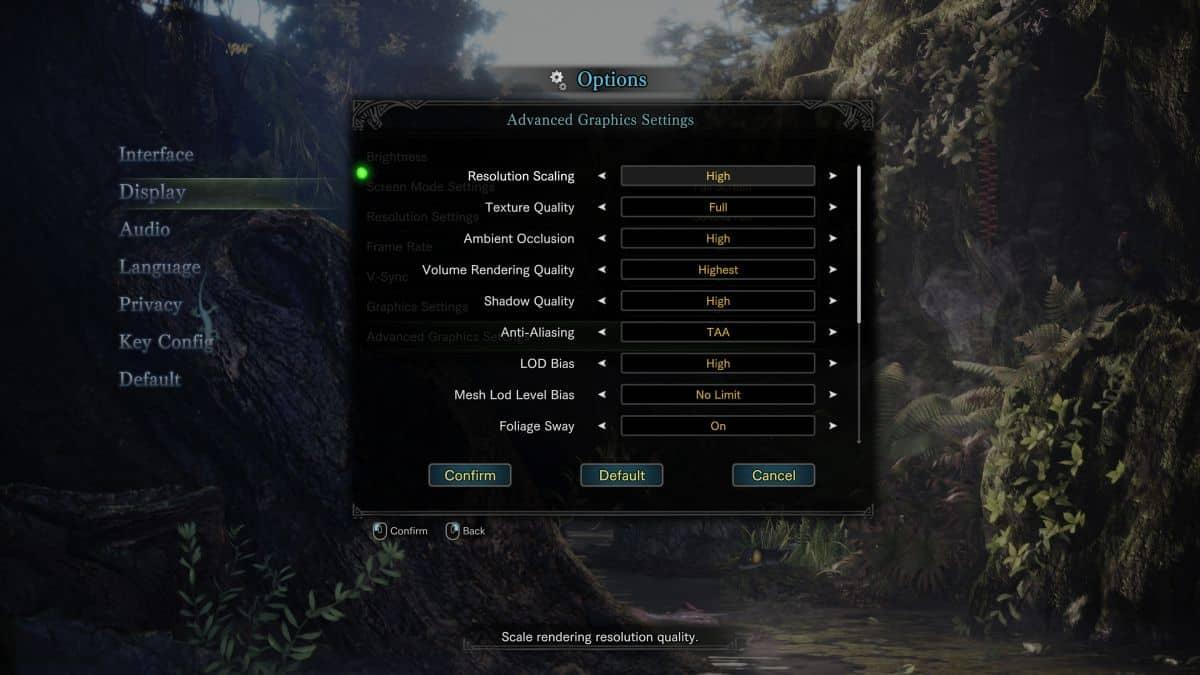 Monster Hunter World настройки на пк разрешение