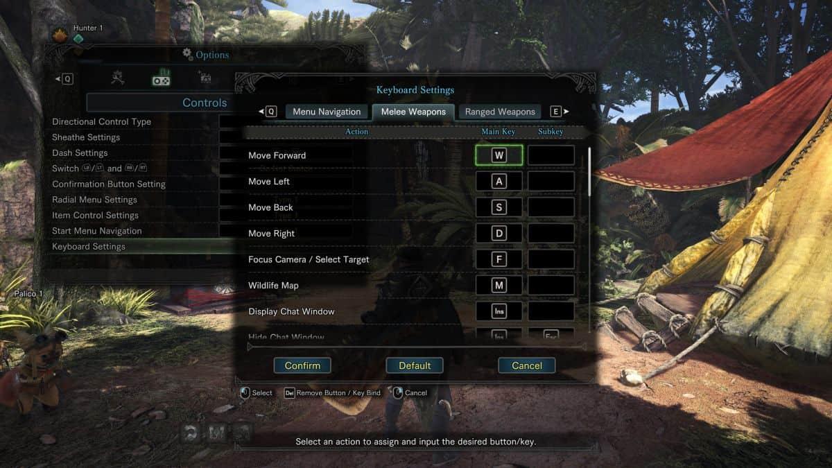 параметры игры Monster Hunter World на пк