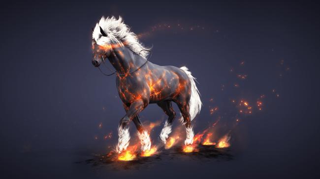 black desert адский конь