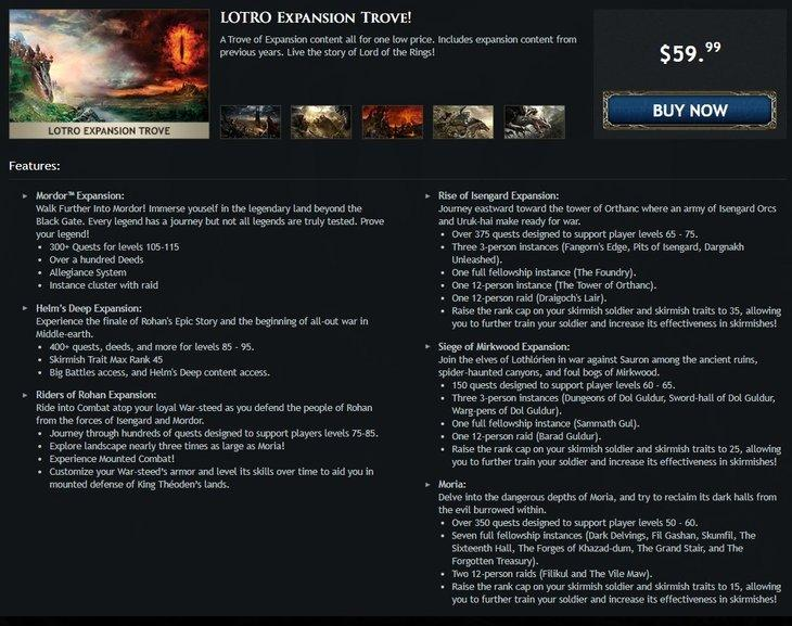 Lord of the Rings Online получил новый набор с DLC