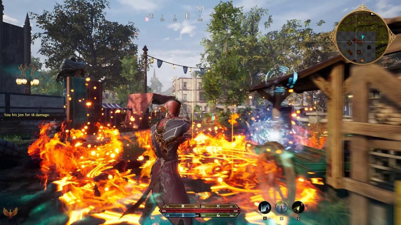 Ashes of Creation 30 минут игрового процесса с альфа-теста