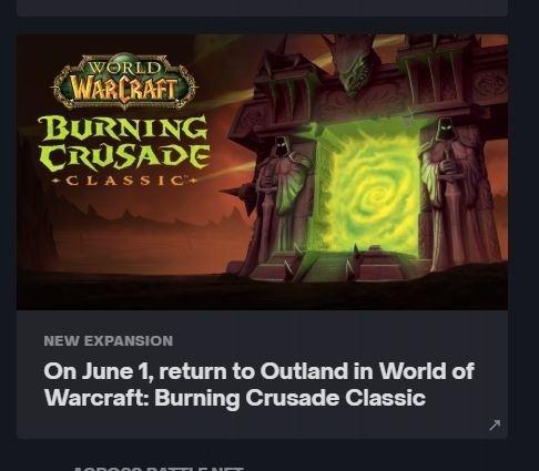 Дата выхода The Burning Crusade Classic назначена на 1 июня