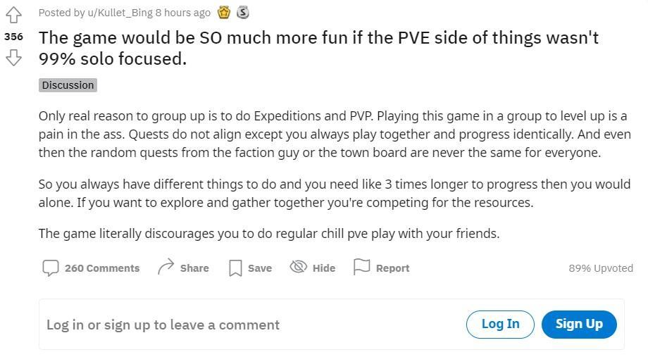 Игроки считают PvE-контент New World «занозой в заднице»