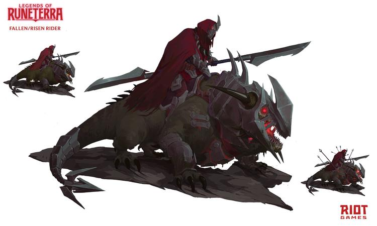 Концепт-арт персонажей MMORPG по вселенной League of Legends