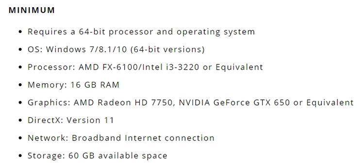 Чтобы поиграть в Mortal Online 2 потребуется минимум 16 GB ОЗУ