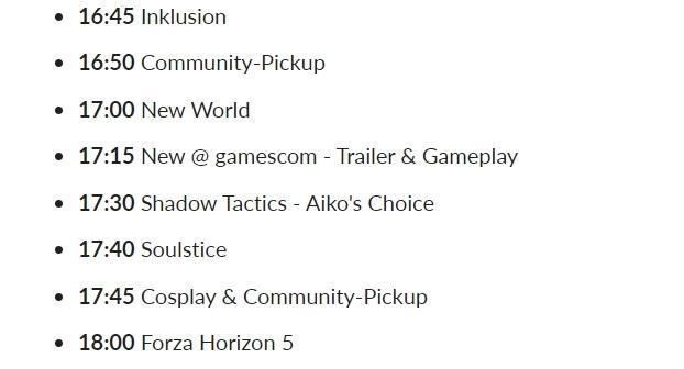 На Gamescom 2021 в 17:00 покажут Gamescom 2021