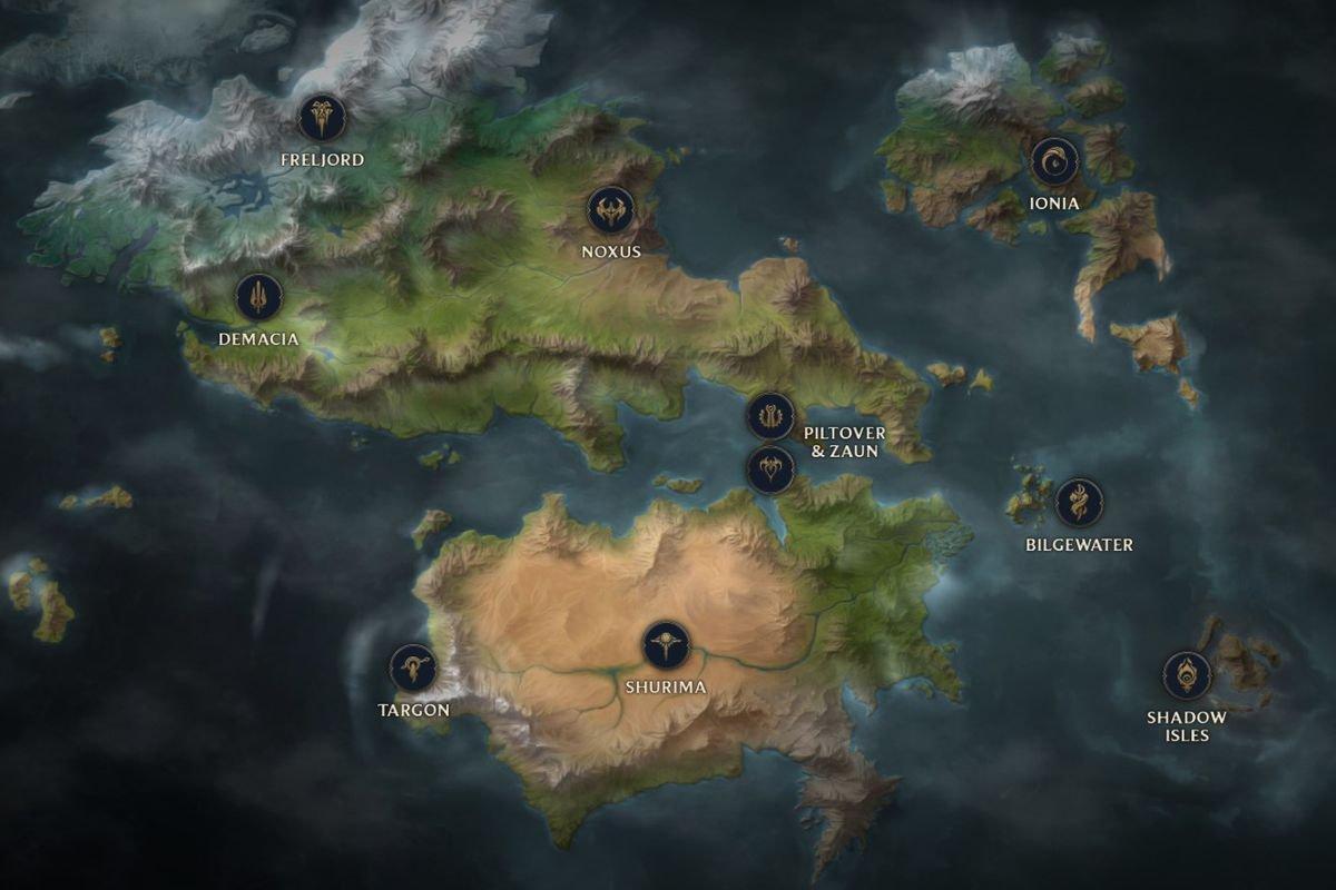 Карта MMORPG по вселенной League of Legends
