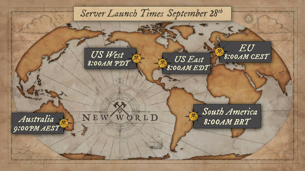 Объявлено время запуска серверов New World
