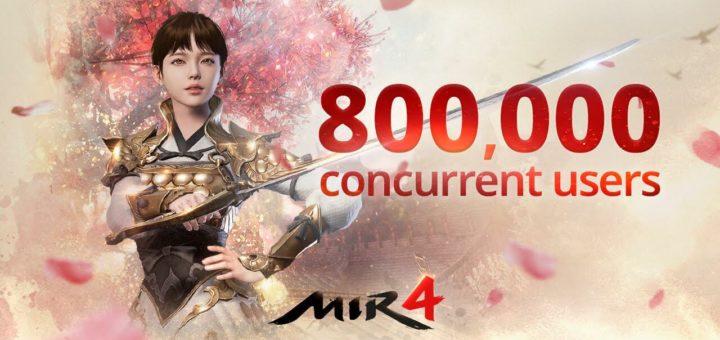У MMORPG MIR4 новое достижение – 800 тысяч одновременных игроков